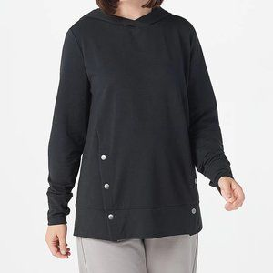 XS AnyBody French Terry Sweatshirt Top Side Snaps